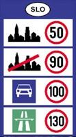 szlovénia sebesség határok